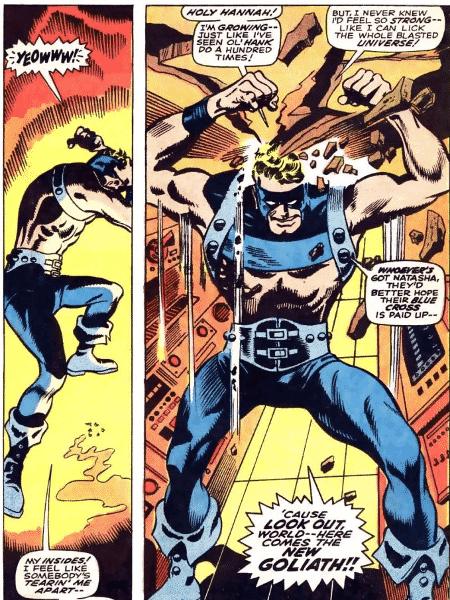 """Capa de """"Vingadores #63"""" com o Gavião Arqueiro assumindo a identidade de Golias - Reprodução - Reprodução"""