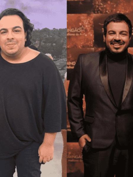 Luis Lobianco mostra antes e depois de perder peso - Reprodução/Instagram
