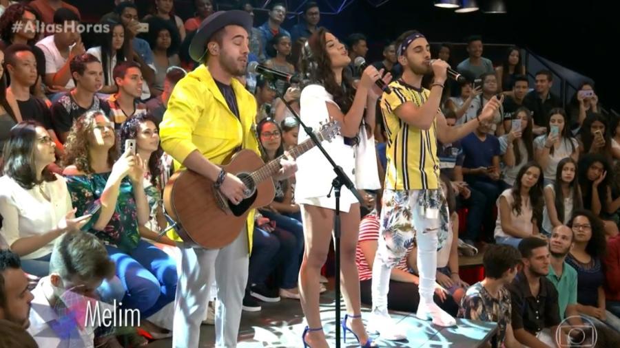 """A banda Melim se apresentou no """"Altas Horas"""" - Reprodução/TV Globo"""