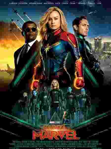 """Pôster nacional de """"Capitã Marvel"""" - Reprodução"""
