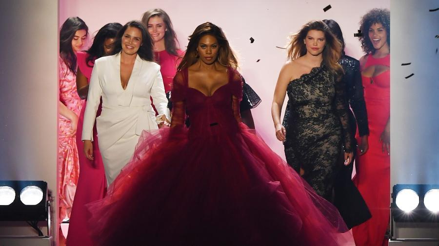 Laverne Cox na Semana de Moda de NY - Xinhua/Li Rui