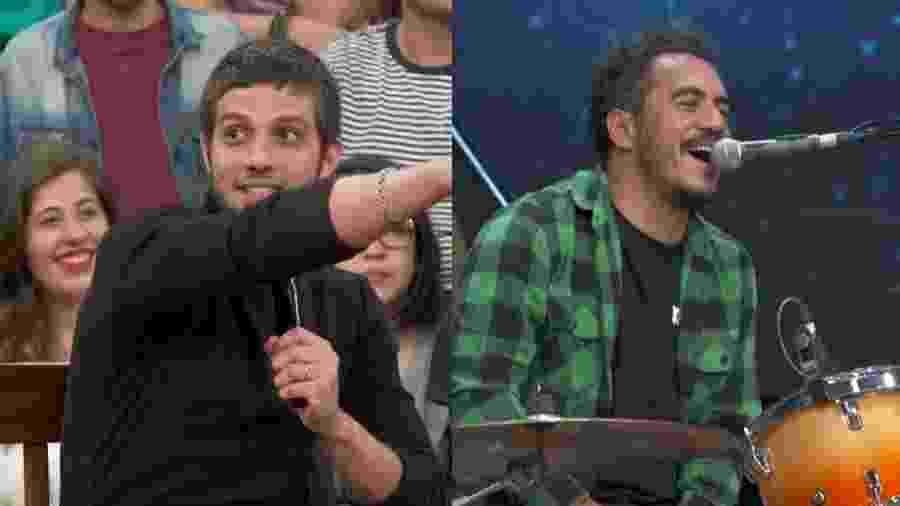 """Chay Suede fala com Marcelo D2 no """"Altas Horas"""" - Reprodução/Globo"""