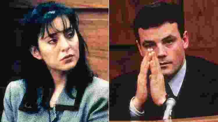 John Bobbit e Lorena, durante o julgamento do caso - Reprodução - Reprodução
