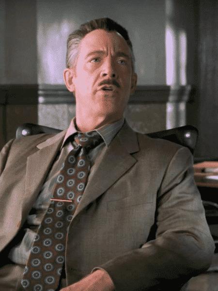 J.K. Simmons como J. Jonah Jameson na primeira trilogia do Homem-Aranha - Reprodução - Reprodução