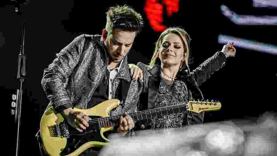 """24.ago.2019 - Sandy e Junior no show da turnê """"Nossa História"""" no Allianz Parque, em São Paulo - Mariana Pekin/UOL"""