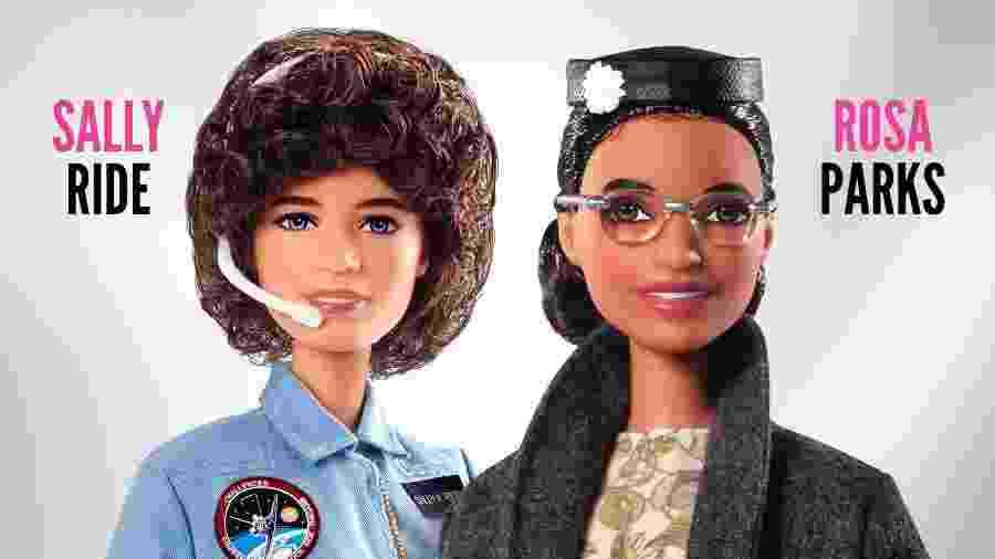 Barbie terá bonecas de Rosa Parks, do movimento negro, e astronauta Sally Ride - divulgação/Mattel