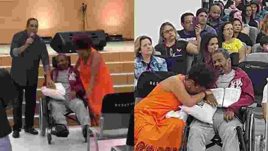 Arlindo Cruz em culto evangélico ao lado da esposa Babi Cruz - Reprodução/Instagram