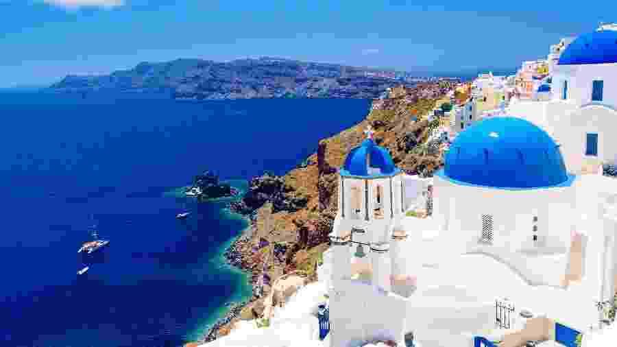 Ilha de Santorini, na Grécia - iStock