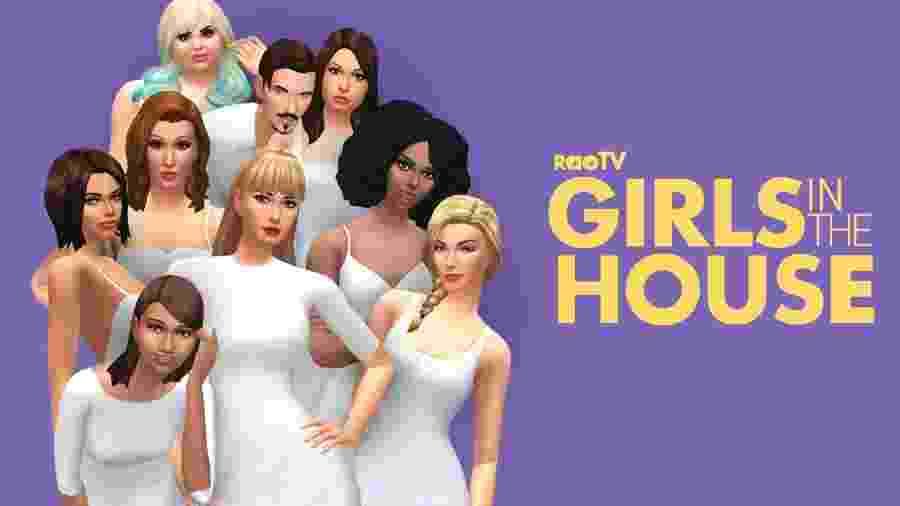 Girls in the House é uma série feita usando The Sims e já tem quatro temporadas lançadas - Reprodução