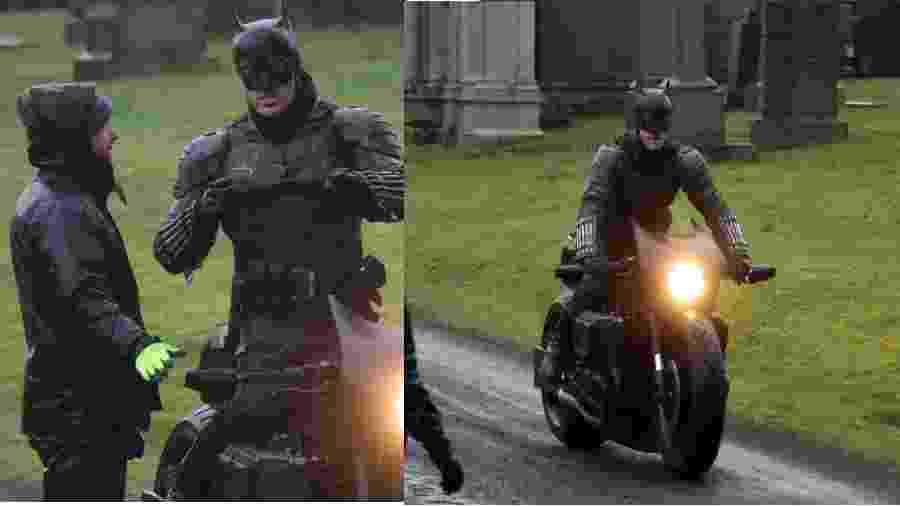 """Fotos do set de """"The Batman"""" revelam traje completo do herói - Reprodução/Twitter"""