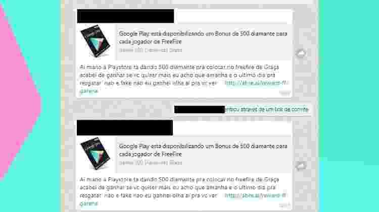 Quando a oferta é boa demais, pode desconfiar: exemplo de um dos golpes para roubar contas que circulou por WhatsApp - Reprodução
