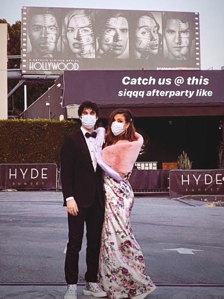 """Darren Criss e a mulher organizam première improvisada para """"Hollywood"""" - Instagram/Reprodução"""
