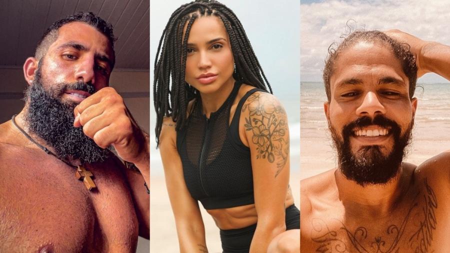 """Kaysar, Paula Amorim e Viegas estão em """"No Limite"""" - Reprodução/Instagram"""