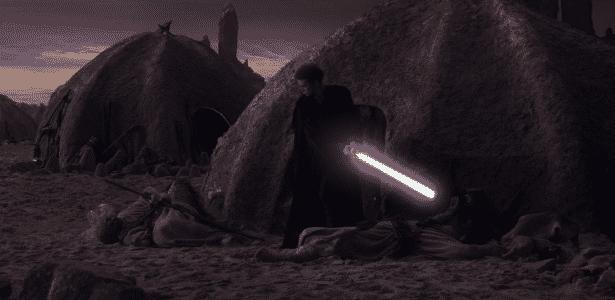 Star Wars Jurídico - Anakin massacra o povo da areia após eles terem matado sua mãe - Reprodução - Reprodução