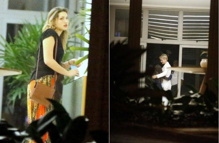 5.ago.2015 - Xuxa é vista chegando com a filha, Sasha, no anversário de Bruna Marquezine na Barra da Tijuca, Zona Oeste do Rio de Janeiro