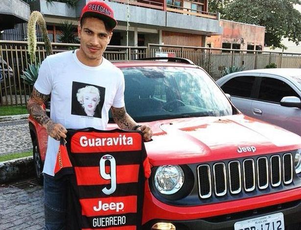 Recém-chegado ao Flamengo, Guerrero vai andar de Renegade, primeiro Jeep nacional - Divulgação