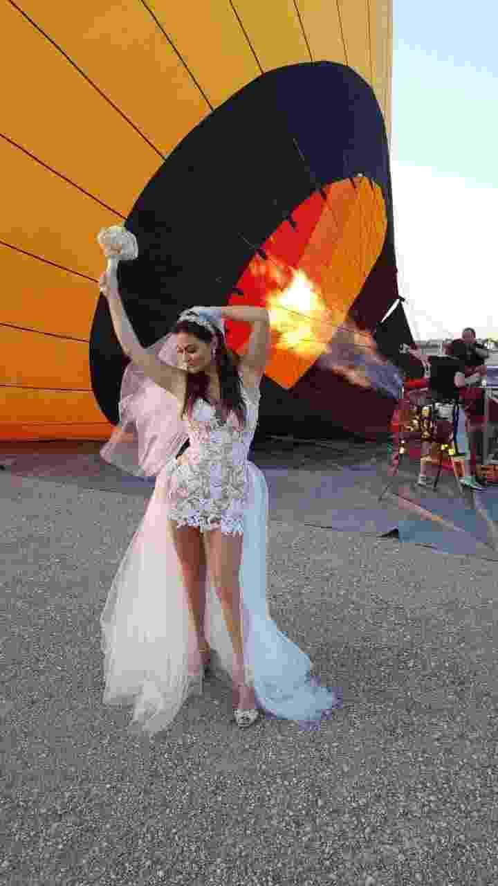 Laura Keller e Jorge Sousa sobem em balão, em Las Vegas, para celebrarem casamento - dgvipservices/r2assessoria
