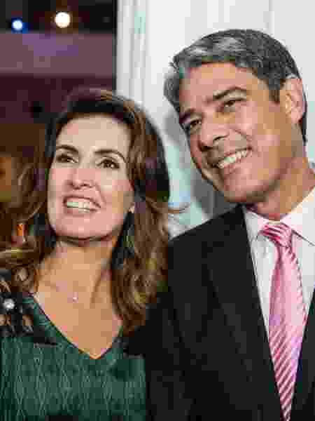 Fátima Bernardes e William Bonner chocaram a internet ao anunciarem a separação - Folhapress