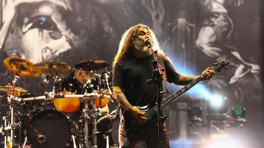 O vocalista Tom Araya, do Slayer - Aloisio Mauricio/Fotoarena/Estadão Conteúdo