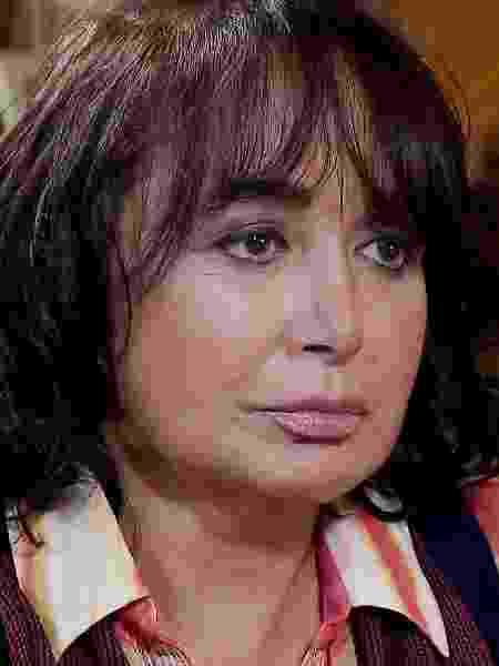 Maria Antonieta de Las Nieves, a Chiquinha, é entrevistada por Gugu Liberato - Divulgação/Record TV