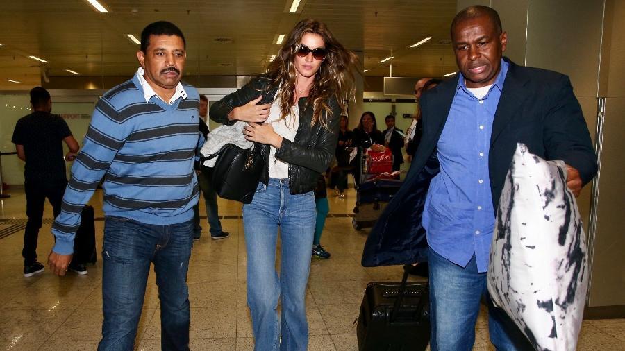 Gisele Bündchen desembarca em São Paulo - Manuela Scarpa e Marcos Ribas/Brazil News