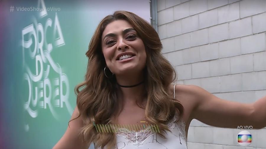 """Juliana Paes no """"Video Show"""" - Reprodução/TV Globo"""