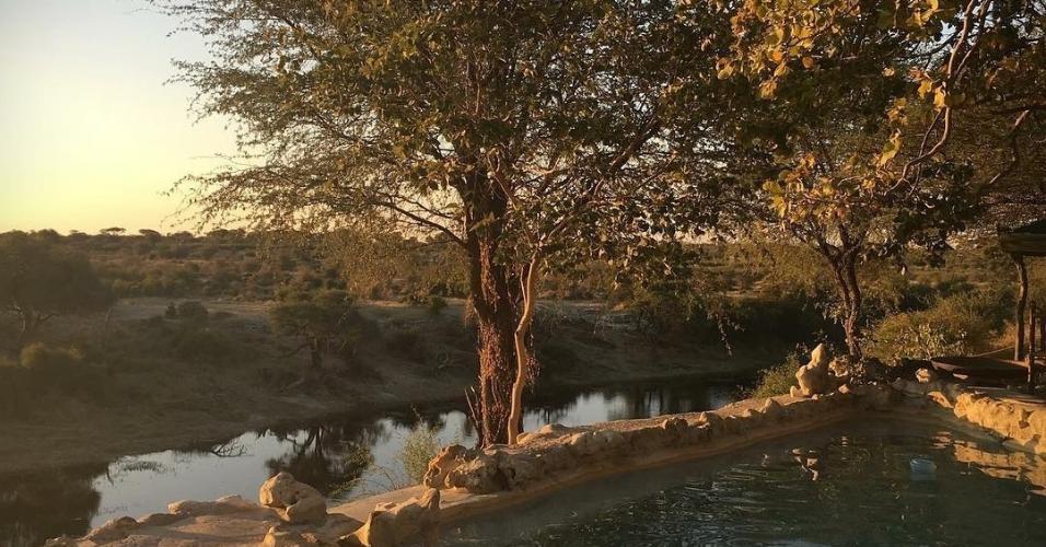 O rio Boteti fica na região de Makgadikgadi e é parte dos pontos visitados no acampamento de safari Meno a Kwena. Um belo destino para os dias de calor.