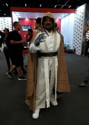 """George Medeiros, 51, na CCXP 2017 de cosplayer de Luke Skywalker, de """"Star Wars"""""""