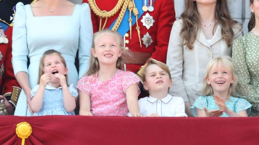 Charlotte, Savannah, George e Isla no Trooping The Colour - Getty Images