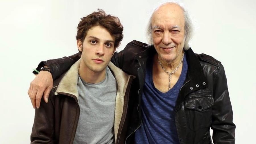 Chay Suede e Erasmo Carlos em foto de 2015, após os testes para o filme - Instagram/Reprodução