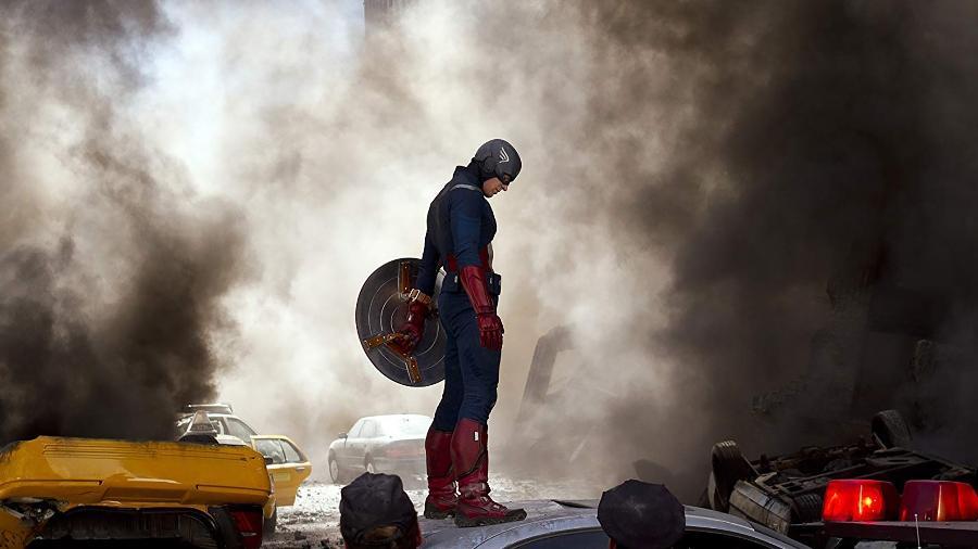 """Chris Evans como o Capitão América em """"The Avengers: Os Vingadores"""" - Divulgação"""
