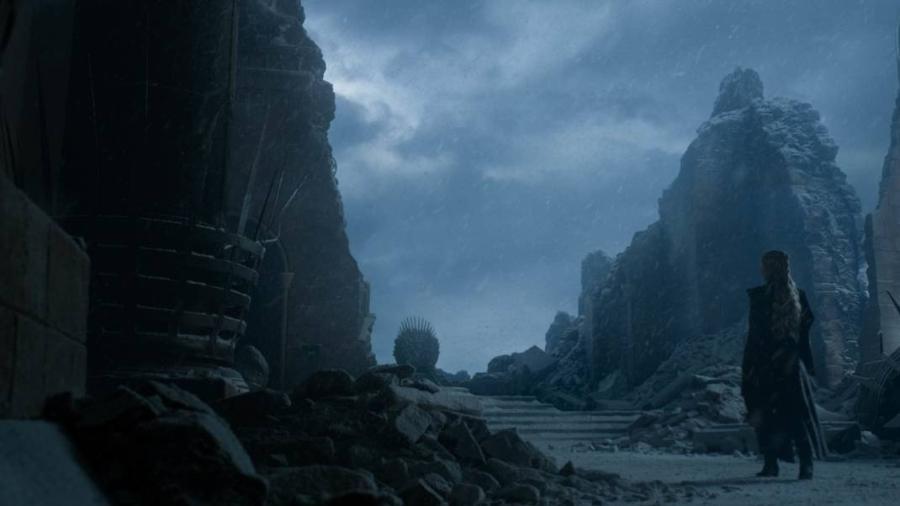 Era neve mesmo o que cobria Porto Real no último episódio de Game of Thrones - Divulgação