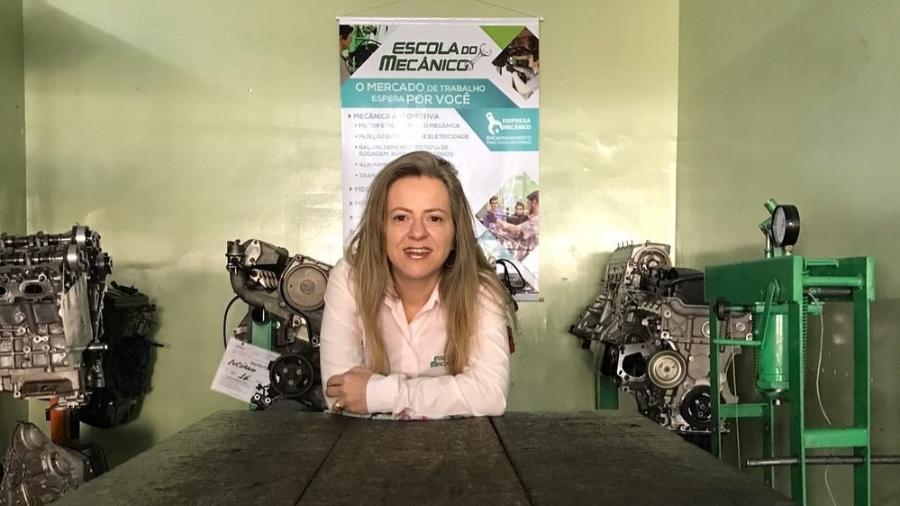 Sandra Nalli enxergou oportunidade de empreender dando aulas de mecânica  - Divulgação