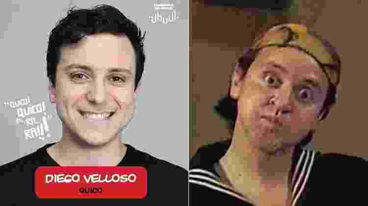 """Diego Velloso interpretará Quico em """"Chaves - Um Tributo Musical"""" - Montagem/UOL - Montagem/UOL"""