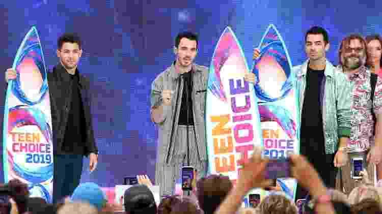 Os Jonas Brothers recebem o Decade Award no Teen Choice Awards 2019 - Kevin Winter/Getty Images - Kevin Winter/Getty Images