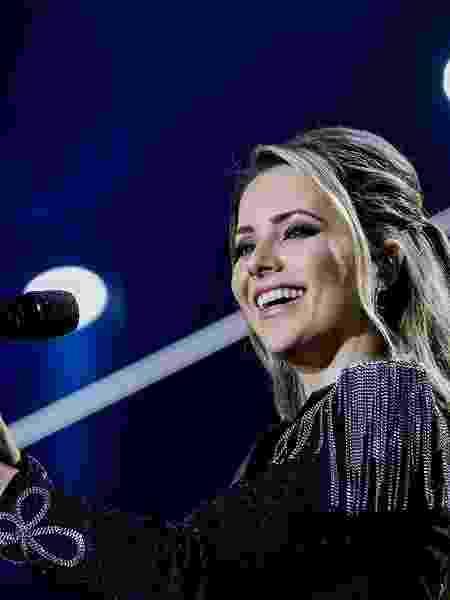 """24.ago.2019 - Sandy no show da turnê """"Nossa História"""" no Allianz Parque, em São Paulo - Mariana Pekin/UOL"""