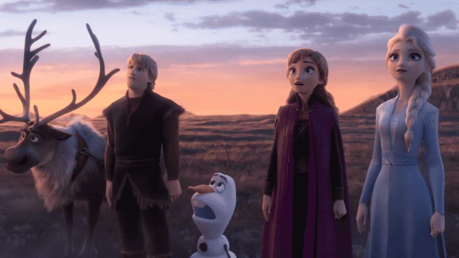 Os heróis de Frozen 2, no novo trailer do filme - Reprodução/YouTube