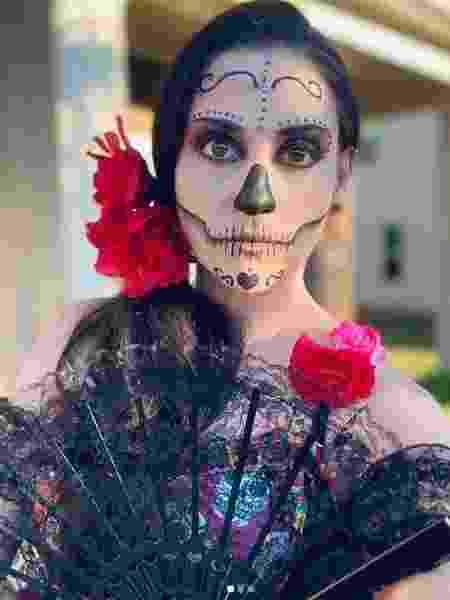 Luciana Pastro compartilhou sua make de Halloween no Instagram - Reprodução/Luciana Pastro/Instagram
