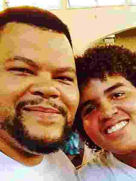Babu Santana e o filho, Carlinhos Santana - Reprodução/Instagram