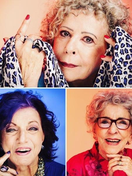 """Sônia (no alto), Gilda e Helena: as """"Avós da Razão"""" - Reprodução"""
