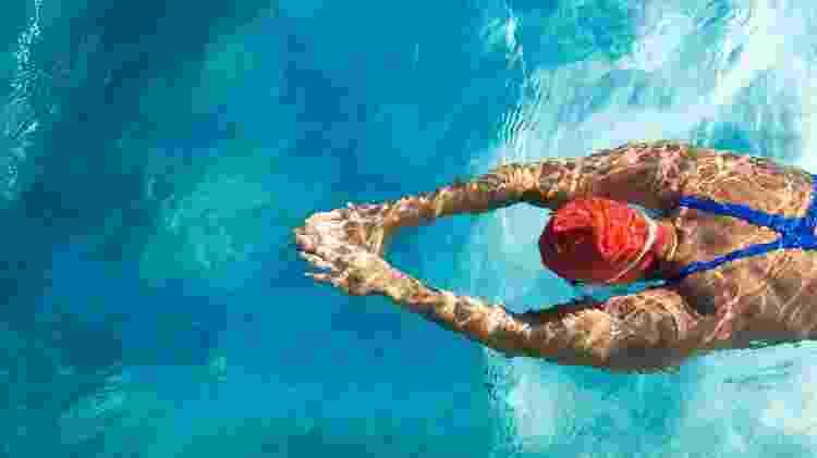 Natação nadadora mulher piscina - iStock - iStock