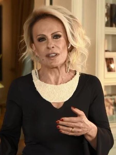 """Ana Maria Braga usa colar feito de arroz no """"Encontro com Fátima Bernardes"""" - Reprodução"""