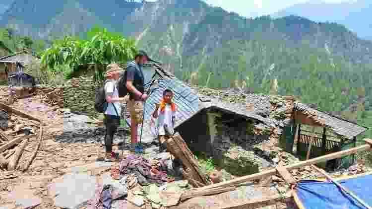 Danniel ajuda na reconstrução do Nepal pós-terremoto - Arquivo pessoal - Arquivo pessoal