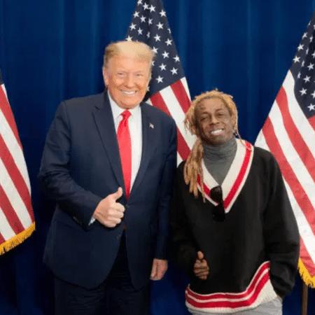 Lil Wayne demonstrou apoio a Donald Trump nas últimas eleições presidenciais dos Estados Unidos - Reprodução / Twitter