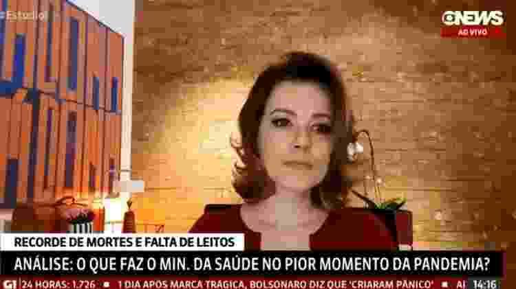 Natuza - Reprodução/GloboNews - Reprodução/GloboNews