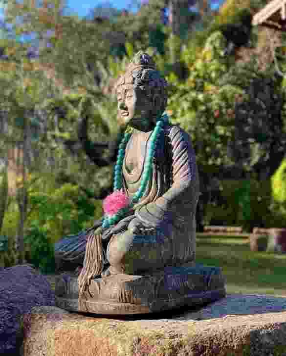 Paolla Oliveira tem espaço na área externa com Buda para meditar - Reprodução/Instagram