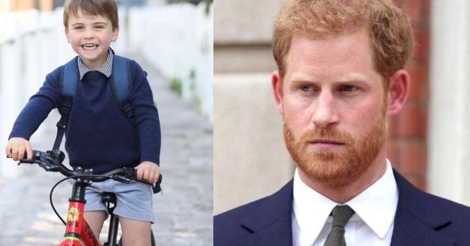 Príncipe Louis e Príncipe Harry