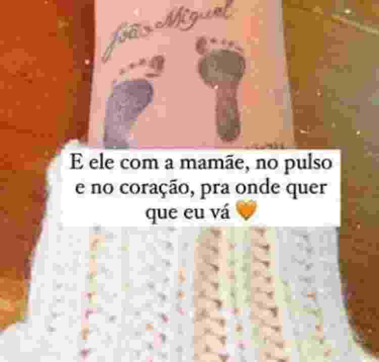 Tatuagem Maria Lina Deggan - Reprodução/Instagram - Reprodução/Instagram