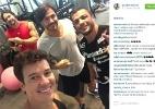 Em Miami, Kleber Bambam malha com Rodrigo Faro e gêmeos Flavio e Gustavo - Reprodução /Instagram /bambamoficial