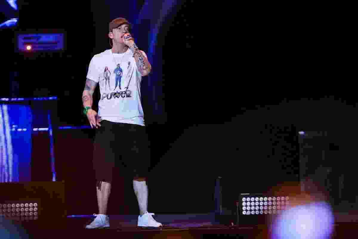 12.mar.2016 - Eminem se apresenta no Lollapalooza Brasil 2016, em São Paulo - Manuela Scarpa e Rafael Cusato/Brazil News